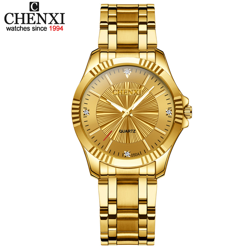 Top Fashion Brand Luxury CHENXI Watches Women Golden Watch Casual Quartz Wristwatch Waterproof Female Watch Clock For Feminine