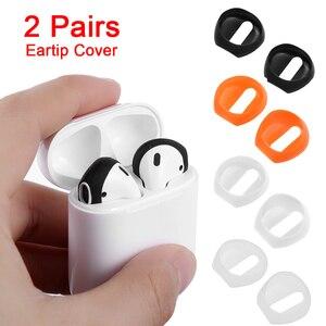 Image 1 - 2 /1Pairs Nieuwe Kleur Zachte Ultra Dunne Oortelefoon Tips Anti Slip Oordopjes Siliconen Oortelefoon Case Cover Voor Apple in Ear Airpods Earpods