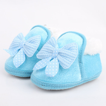 Winter Warm Baby Cotton Shoes And Boots Thickened Warm Soft Soled Walking Shoes Bow Factory Wholesale Free Shipping 1