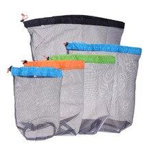 5 шт., сетчатый мешок на шнурке, контейнер для еды, легкий мешок на завязках, спальный мешок, компрессионный мешок для дома и путешествий
