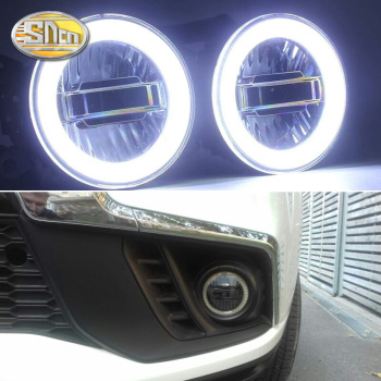 цена на SNCN 3-IN-1 Functions Auto LED Angel Eyes Daytime Running Light Car Projector Fog Lamp For Mitsubishi ASX 2011 - 2019 2020