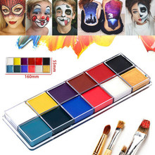 Atacado Pintura Corporal 12 Cores Rosto Corpo Pintura A Óleo Pigmento Arte Kit Pintura Corporal Maquiagem Cosplay Halloween Party M3