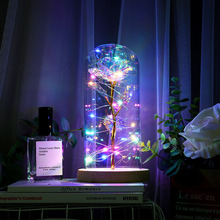 LED Lamp Bottle Desk Lamp Flower Night Light Roman