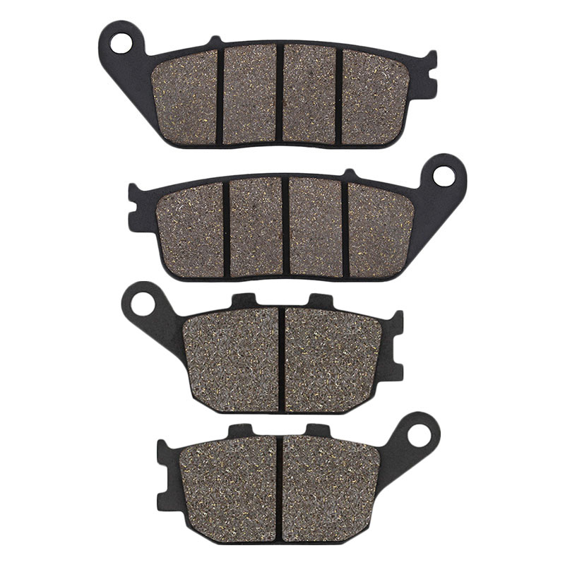 Cyleto Motorcycle Front And Rear Brake Pads For HONDA VT1100 VT 1100 Shadow 95-07 VT1300 10-15 VTX1300 03-13 VRX400 96 CBF500 04