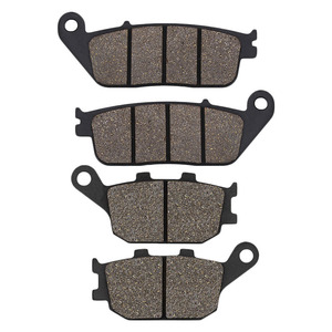 Cyleto Motorcycle Front and Rear Brake Pads for HONDA VT1100 VT 1100 Shadow 95-07 VT1300 10-15 VTX1300 03-13 VRX400 96 CBF500 04(China)