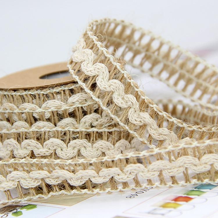 10Meter/Lot 15mm Natural Jute Burlap Hessian Weave Ribbon Wedding Party Supplies Burlap Ribbon DIY Burlap Rope Craft