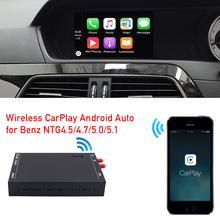 for C class W204 Carplay wireless interface decoder box facelift comand head unit radio NTG4.5 4.7 system factory screen upgrade