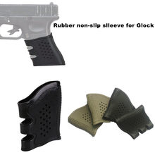Tactical Glock Pistol Rubber Grip Mouw Cover Anti Slip Voor Stretch Voor Glock 17 19 20 21 22 31 32 m4 AR15 Airsoft Holster(China)