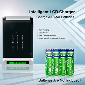Image 4 - PUJIMAX LCD 002 LCD Display With 4 Slots Smart Intelligent Battery Charger For AA/AAA NiCd NiMh Rechargeable Batteries