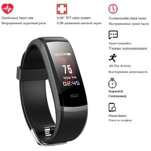 Image 4 - 2020 Hot Fitness Band GT101 Kleur Screen Hartslagmeter Smart Armband Waterdicht Call Herinnering Activiteit Tracker Voor Iphone