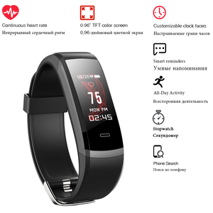 Image 4 - 2020 hot Fitness Band GT101 Color Screen Heart Rate Monitor Smart Bracelet Waterproof Call Reminder Activity Tracker for iPhone