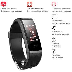 Image 4 - 2020 hot Fitness zespół GT101 kolorowy ekran pulsometr inteligentne bransoletka wodoodporna połączeń przypomnienie aktywności Tracker dla iPhone