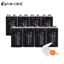 8pcs* PALO 9V 6F22 Rechargeable Battery  For Radio,Camera,Toys etc
