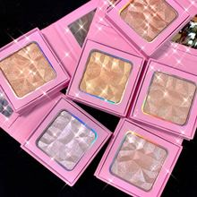 Monochrome Super Flash Highlighter Palette Private Label Cosmetic Bronzer Body Shimmer Contouring Powder And Brightening No Logo