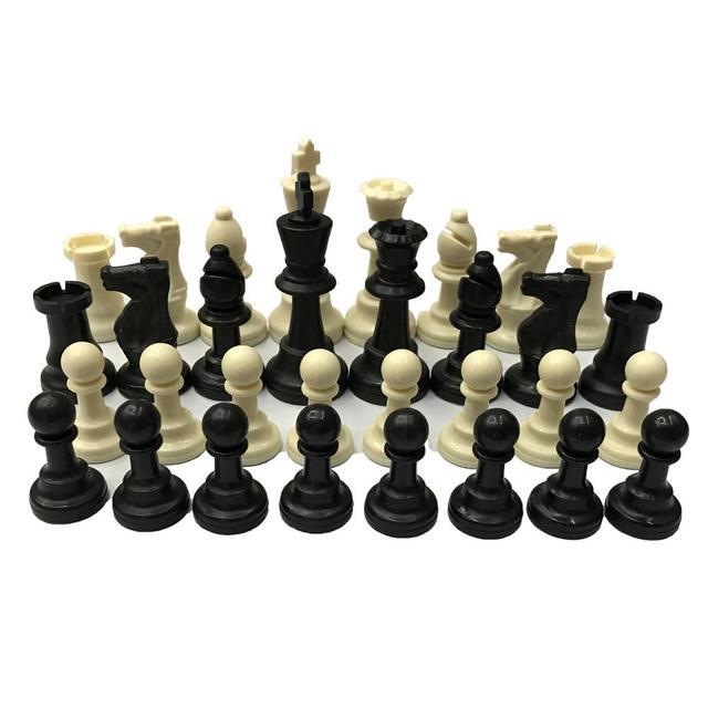 Ensemble d'échecs 32 pièces de 7.7cm, 2