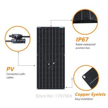 XINPUGUANG 1pcs~ 5pcs  18v 120W Black Flexible Solar Panel 18V/36v 240w 48V/18V 360W 12V/24V 480W 600W 3