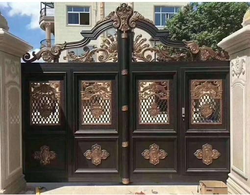 Metal Main Gate Ornamental House Main Gate Design With Sliding Gate Opener