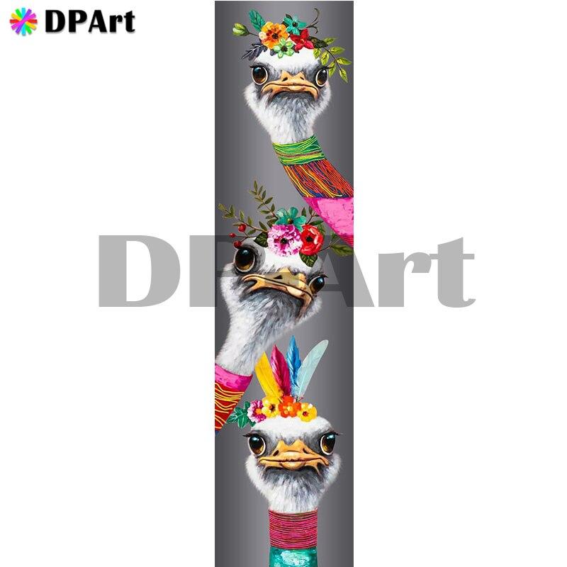 Daimond картина полностью квадратная/круглая дрель страуса 5D алмазная вышивка крестиком Мозаика картина Настенный декор M1762