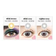 Мигающие контактные линзы для большого макияжа глаз мягкие цветные