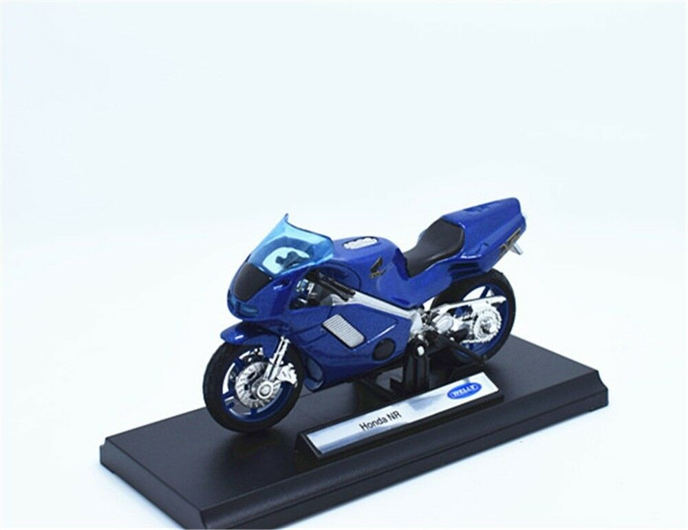 Welly 1:18 Honda NR Blue MOTORCYCLE BIKE DIECAST MODEL TOY NEW IN BOX