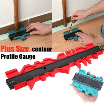 12/14/25/50cm Contour Gauge Plastic Profile Copy Contour Gauges Standard Wood Marking Tool Tiling Laminate Tiles Measuring Tools
