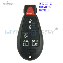 Remtekey New type keyless entry remote key fob Fobik IYZ-C01C 434MHZ 6 button for Chrysler Dodge Jeep challenger town country