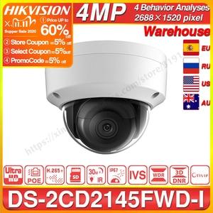 Image 1 - هيكفيجن DS 2CD2145FWD I بو كاميرا فيديو الأمن 4MP الأشعة تحت الحمراء شبكة كاميرا بشكل قبة 30M IR IP67 IK10 H.265 + SD فتحة للبطاقات
