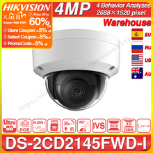 Hikvision DS 2CD2145FWD I POE Camera Video Security 4MP IR Network Dome Camera 30M IR IP67 IK10 H.265+ SD Card Slot