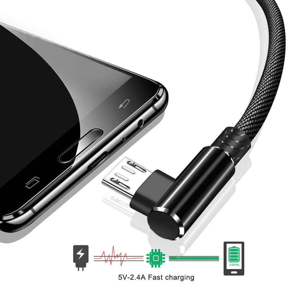 OneVan Micro Cavo USB Per La Ricarica Del Telefono Cavo di 90 Gradi Gomito 2.4A Veloce USB di Tipo C Filo Per Il Iphone 7 6S Android Del Telefono di Samsung