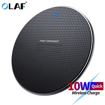 Olaf 18W Qi Wireless Charger Receiver for iPhone Xs Max X 8 Plus Fast Charging Pad for Samsung Note 9 S10 Plus chargeur sans fil