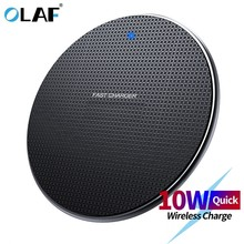 Olaf 18W Qi Wireless Charger Receiver for iPhone Xs Max X 8 Plus Fast Charging Pad for Samsung Note 9 S10 Plus chargeur sans fil(China)