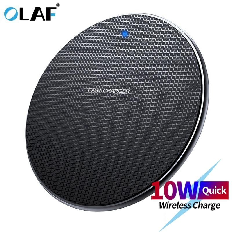 Olaf 18W Qi chargeur sans fil récepteur pour iPhone Xs Max X 8 Plus chargeur rapide pour Samsung Note 9 S10 Plus chargeur sans fil