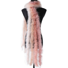 2 Meters Leather Pink Turkey Feathers Fluffy Shawl Marabou Boas Feathers Decoration Dress Dance Party Accessory Diy Plume Crafts