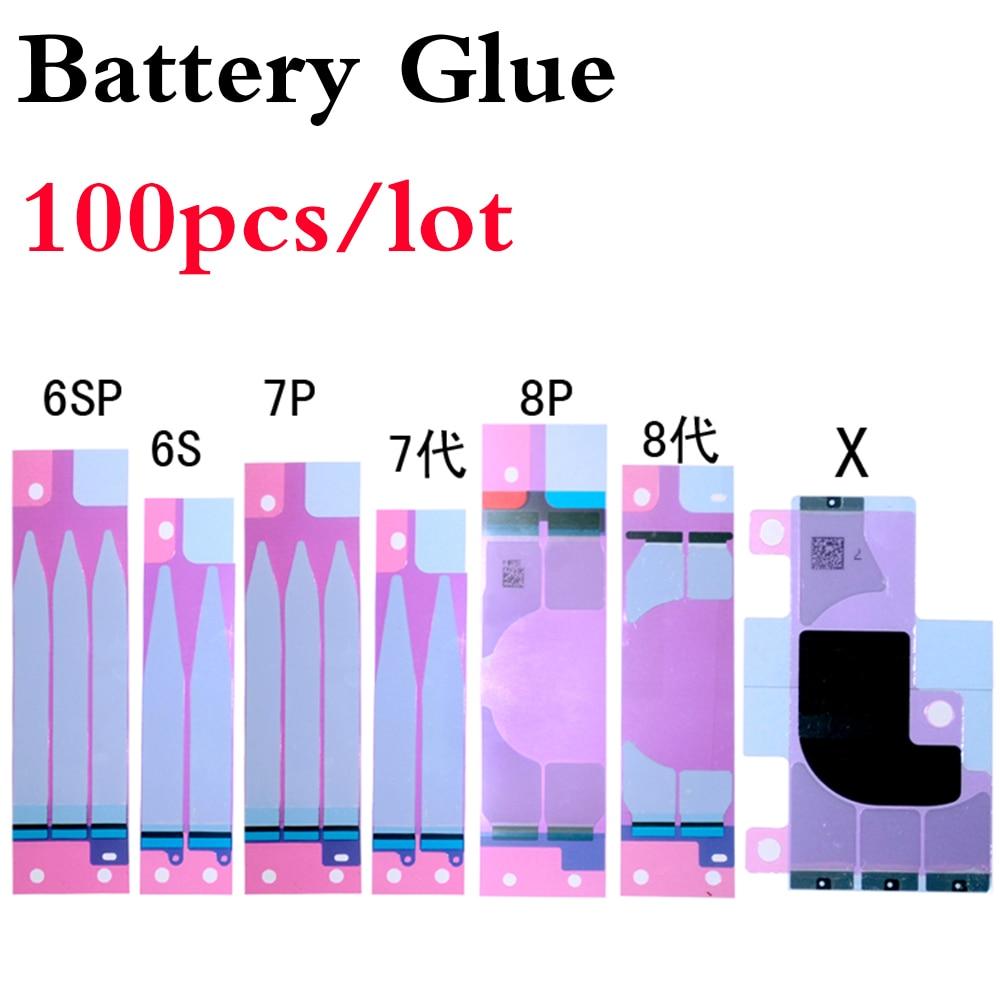 100 peças de reposição para iphone 6s 7 8 plus 5S x xr xs max 3m dupla peça de viagem