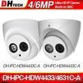 Dahua IPC-HDW4433C-A IPC-HDW4631C-A 4MP 6MP сетевая ip-камера CCTV POE CCTV безопасности Встроенный микрофон 30 м ИК WDR H.265 Onvif