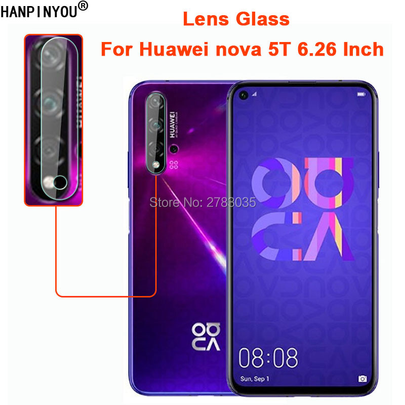 "For Huawei Nova 5T 6.26"" Clear Ultra Slim Back Camera Lens Protector Rear Camera Len Cover Tempered Glass Protection Film"
