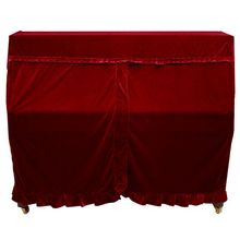 Practical Full Piano Cover pleuche Decorated with Macrame for Universal Upright Vertical