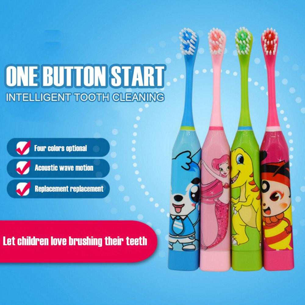 Children Electric Toothbrush Cartoon Pattern Double-sided Soft Tooth Brush Electric Teeth Brush Whitening For Kids Prevent Tooth image