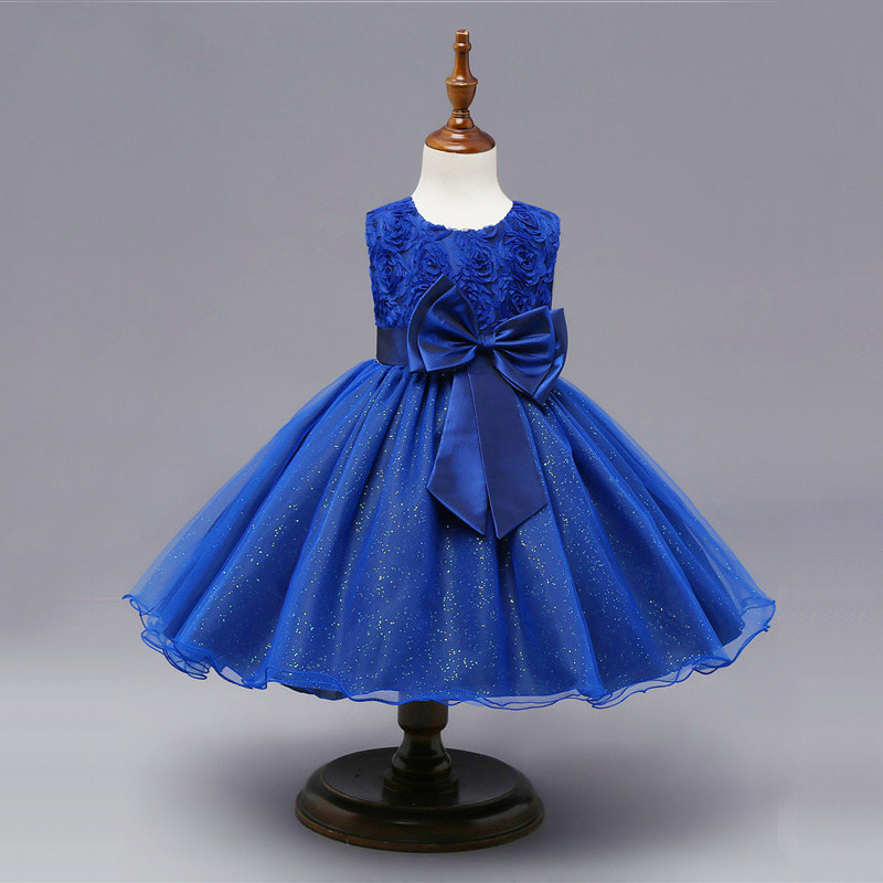 Floral Tutu Dress For Girls Dresses Kids Clothes Wedding Events Flower Girl Dress Birthday Party Costumes Children Clothing 8T 5