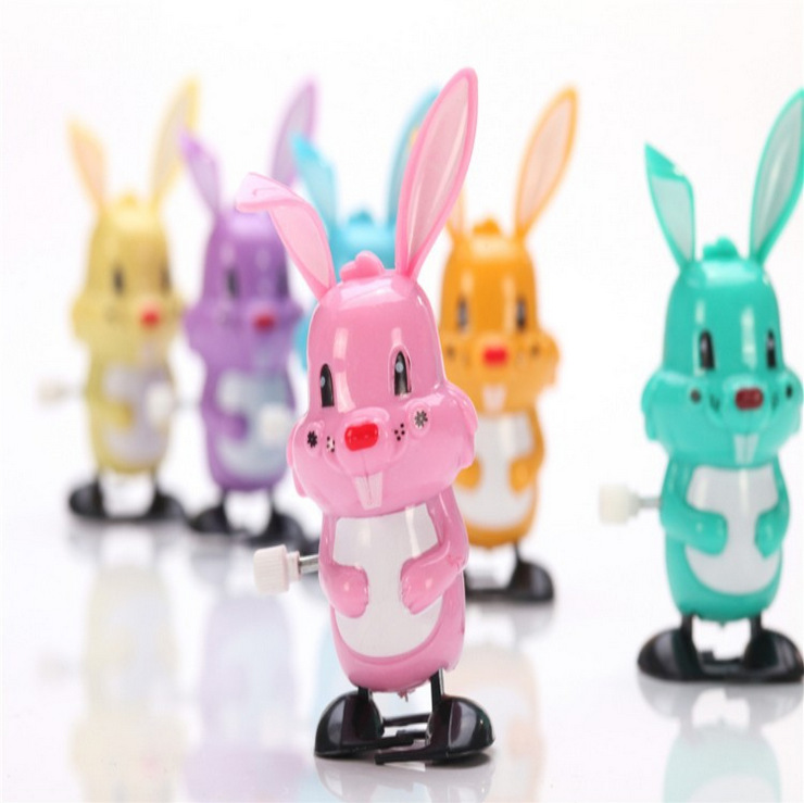 Spring Bunny Winding Cartoon Cute Biao Qing Tu Street Vendor Hot Selling Hot Sales Small Toys