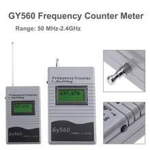 Contador de frequência digital display lcd de 7 dígitos para transceptor de rádio em dois sentidos gsm 50 mhz-2.4 ghz gy560 medidor de contador de frequência novo