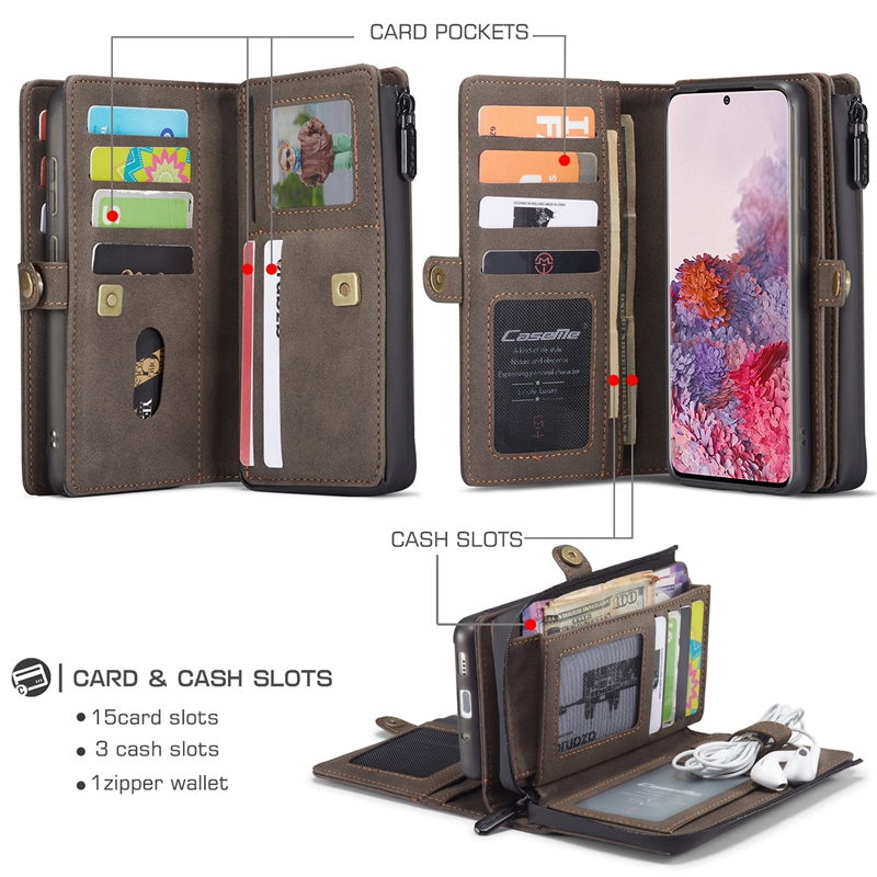 For Samsung Galaxy S20 Ultra PU Leather Wallet 17 Card Slots Phone Case For Coque Samsung Galaxy S20 Note10 Plus S20+ S20 Cover