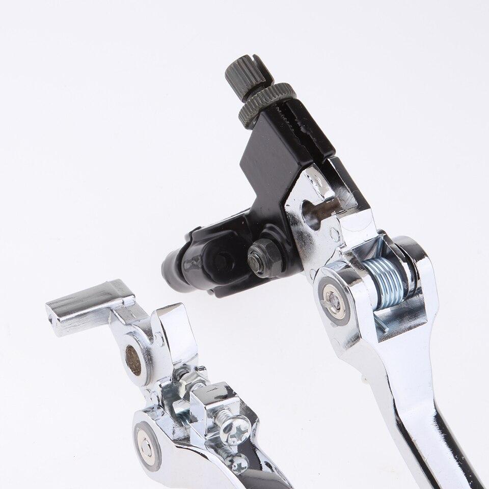 7//8Palancas del dep/ósito del cilindro maestro del embrague del freno de la motocicleta Dorado 1 par de Palanca de freno y embrague ajustable
