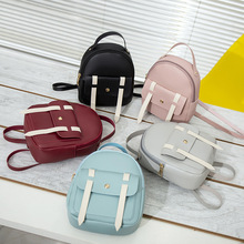 2020 Mini Backpack Women PU Leather Bag For Teenage Girls Kids Multi-Function Small Bagpack Female Ladies School Backpack mini backpack women pu leather shoulder bag for teenage girls kids multi function small bagpack female ladies school backpack
