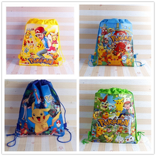 Anime  Pokemon Storage bag Pikachu Action man Toys Birthday Party Decor Kids Christmas Gifts