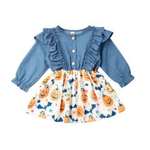 0-4T Toddler Kid Baby Girl Dress Denim Tutu Tulle Party Ruffles Dresses Casual Clothes Halloween Vestidos Kids Dresses for Girls baby clothing tutu party mini dress cute toddler clothes patchwork denim shirt dress kids baby girl long sleeve denim tulle 1 6t