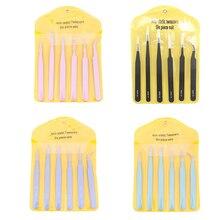 6 unids/set 4 pinzas de acero inoxidable ESD10 11 12 13 14 15 pinzas antiestáticas Kit de herramientas de reparación pinzas de manicura de belleza DIY