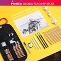 Marco 21 pçs conjunto de lápis esboço profissional cortina conjunto desenho kit lápis de madeira esboço caneta estudante escola arte suprimentos