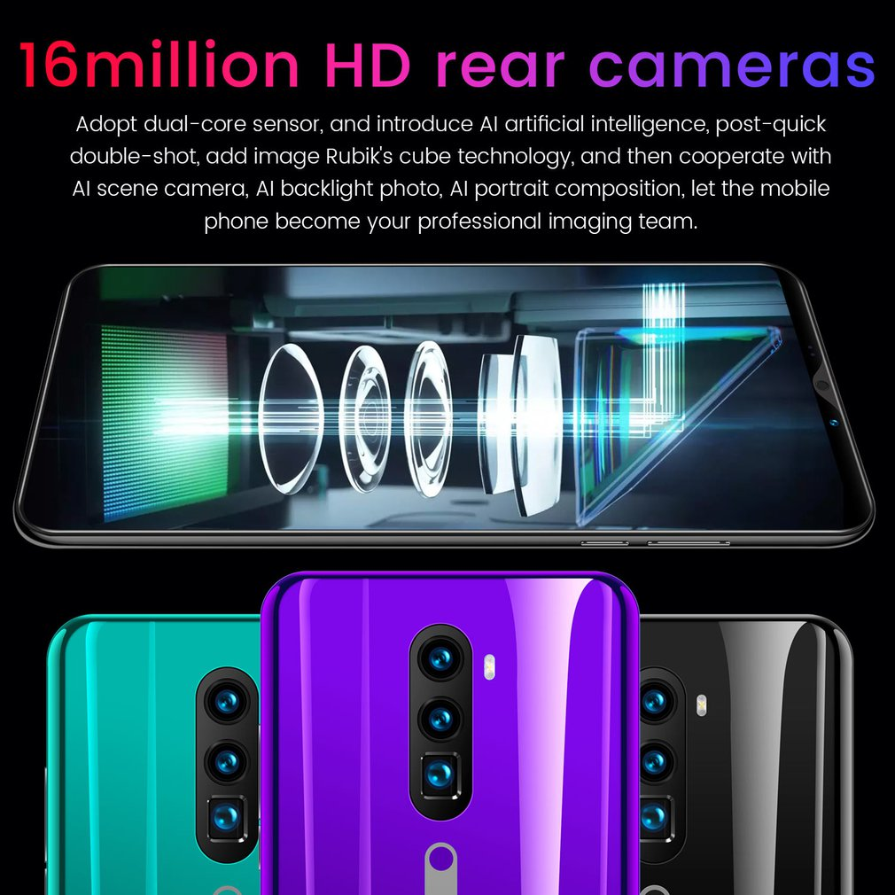 3G Smartphone 5.8 Inch Full Screen Android Hd Screen Smartphone Fingerprint Unlock Machine 4+64G Flash Memory