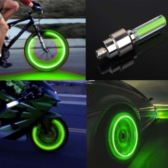 Bike / Car Motorcycle Cap Wheel Spoke Flash LED Automobiles & Motorcycles color: Blue|Green|Red|Yellow